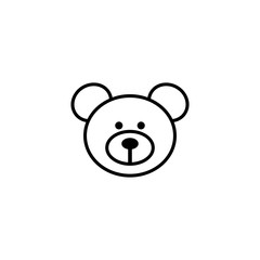 Bear face vector icon