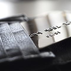 Macro shot with  credit card.