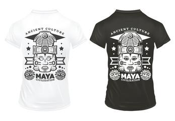 Vintage Maya Civilization Prints Template