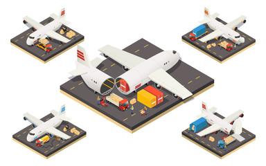 Isometric Aircraft Logistics Concept