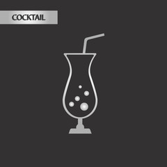 black and white style glass cocktail