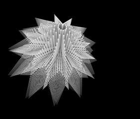 幾何学模様のブロックの背景素材