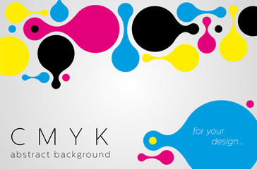 Abstract metaball background from CMYK colors