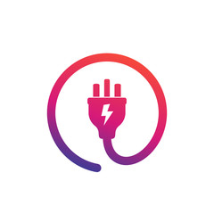 uk electric plug icon, vector logo