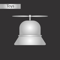 black and white style toy helicopter