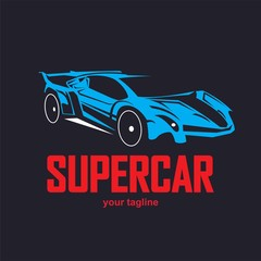 Sports car logo template. Modern sports car logo. Car logo template