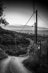Downhill road, Greece