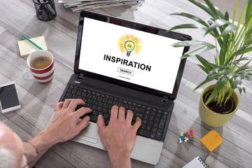 Inspiration concept on a laptop