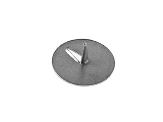 Office metallic button it is isolated on a white background