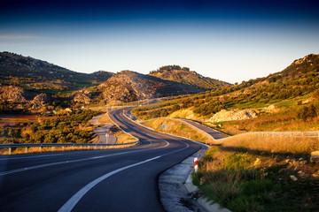 Curvy road, Greece