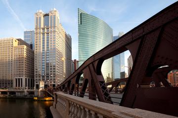 Bridge over Chicago River, Chicago, Illinois, USA