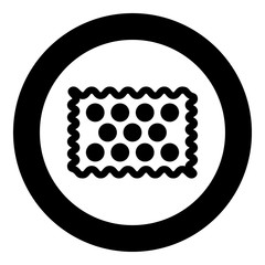 Cookie icon black color in circle