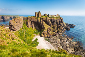 Wall Murals Northern Europe Dunnottar Castle with clear sky in Stonehaven, Aberdeen, Scotland