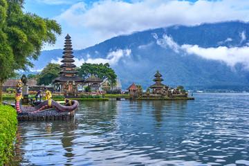 Pura Ulun Danu Beratan temple on Bali island, Indonesia