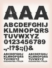 Rusty Grunge Shadow ABC Font