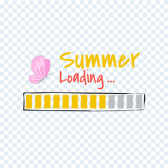 Hello Summer loading progress Bar.