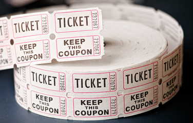 Roll of Event Entry Tickets