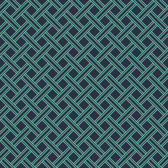 Seamless neon blue diagonal vintage textile plaid pattern vector