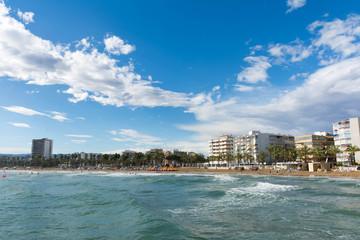 the beach on the costa dorado