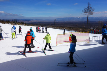 Skiing in the High Tatra ski center