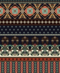 Vector seamless ornamental pattern. Ornamental border. Fashion style. Design for fabric, web, cards, iphone cover