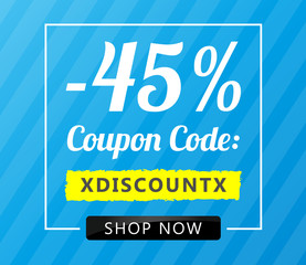 45 Coupon Code Blue
