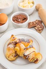 chocolate croissant homemade