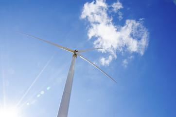 Wind turbine with sky