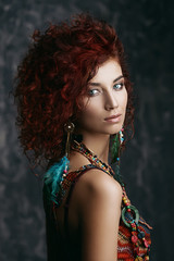 red-haired beautiful girl