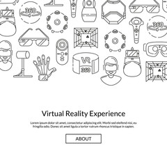 Vector background with linear style virtual reality elements