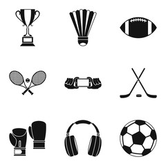 Image data icons set, simple style