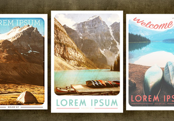 Vintage Travel Poster Set