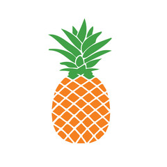 Fresh pineapple illustration. design graphic.