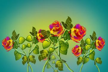 Illustrazione con fiori.