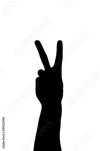 Peace Sign Hand Silhouette Stock Photo And Royalty Free Images On