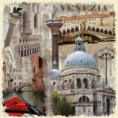 Venice vintage poster.