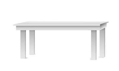Template for Object Presentation.White Table. Platform.Stand. Vector Illustration