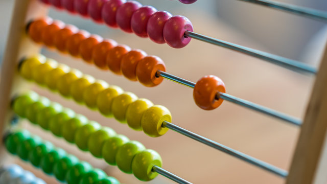 Close Up Of Colorful Abacus
