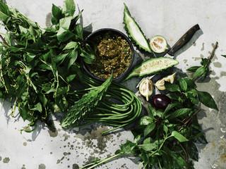 Fresh herbs and thai ingredients