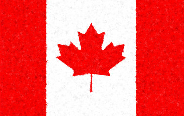 Illustration of a Canadian flag with a star pattern