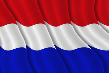 Illustration of a Dutch flying flag
