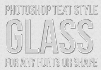 Transparent Glass Text Style