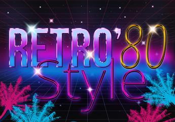 Classic 80's Retro Font Styles