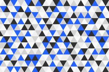 Abstract triangle geometric pattern. Colorful polygon texture. Retro style