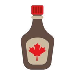 bottle syrup maple icon vector illustration design