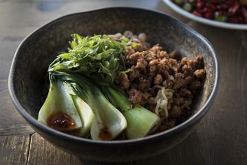 Pork and bok choy dish