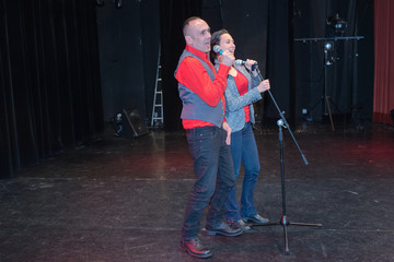 duo singing on the stage