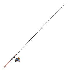 Fishing rod vector flat illustration