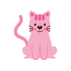 cute little cat icon vector illustration design