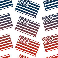 united states of america flag pattern background vector illustration design